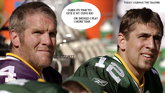Bret favre aaron Rodgers by dezz1977