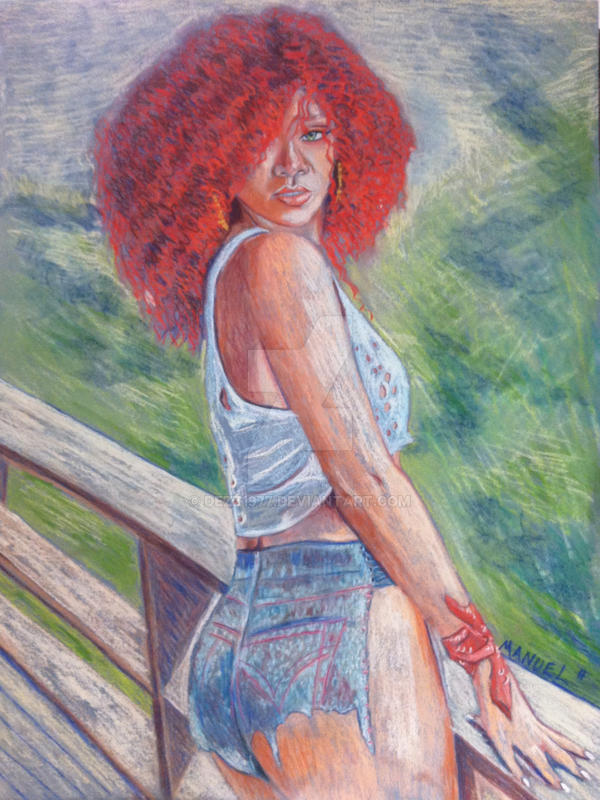 Rihanna pastel by dezz1977