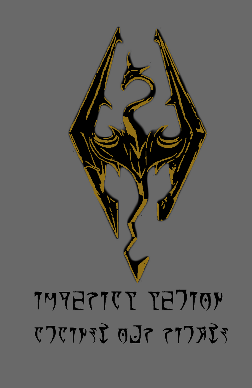 Logo stencil skyrim by doomsong on deviantart
