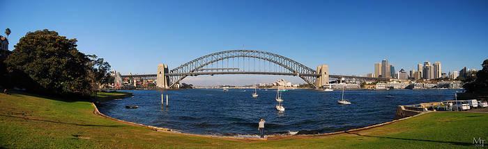 Sydney Harbour Bridge panorama by AliBahulimud