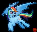 Rainbow Dash Bat