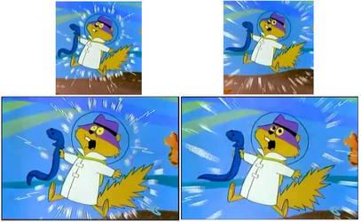 Secret Squirrel electrocution screenshots