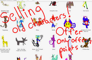 Selling old characters!