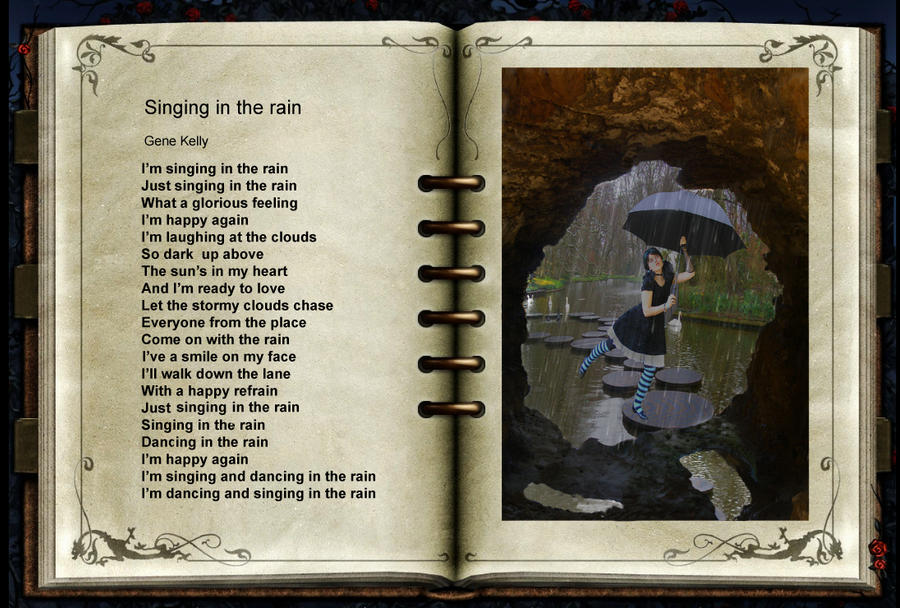 Singing and dancing in the rain. by awesome43