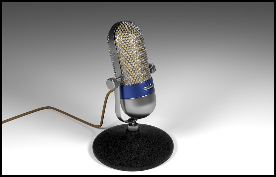 Vintage Microphone for you (3D Model) by awesome43