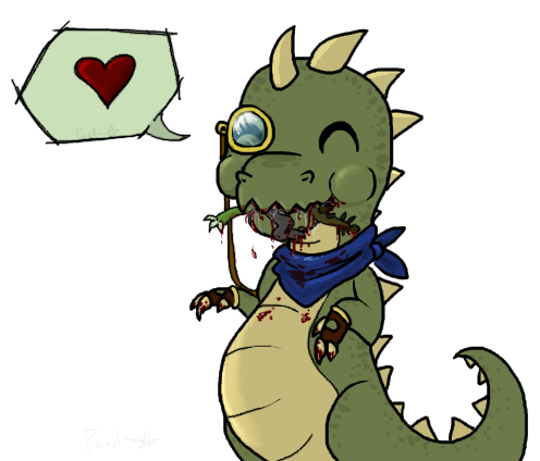 Teep ate ALL the dinos by Purrlstar on DeviantArt
