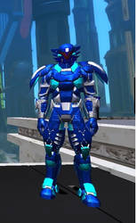 Crusader the Armored Superhero by SCPilot