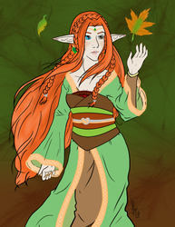 Lafemaera Caelrahd, the Elven Princess of Autumn by SCPilot