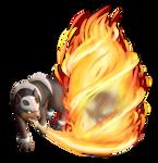 GA-HQ PokeTribute Gen II 1 - Houndour used Inferno by drjhordan