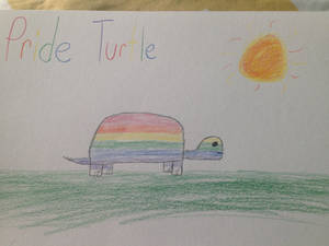 Gay Pride Twurtle :3