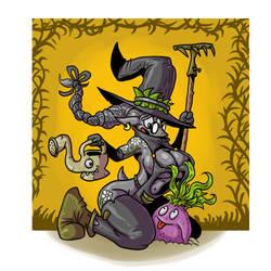 Witchtober 4 Garden witch