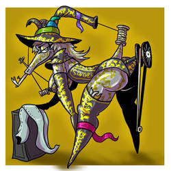 Witchtober 7 Seamstress tailor witch
