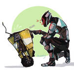 Claptrap and Zer0 by Dauverney