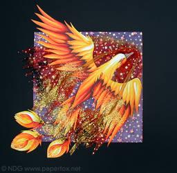 Flight of the Phoenix by art-paperfox