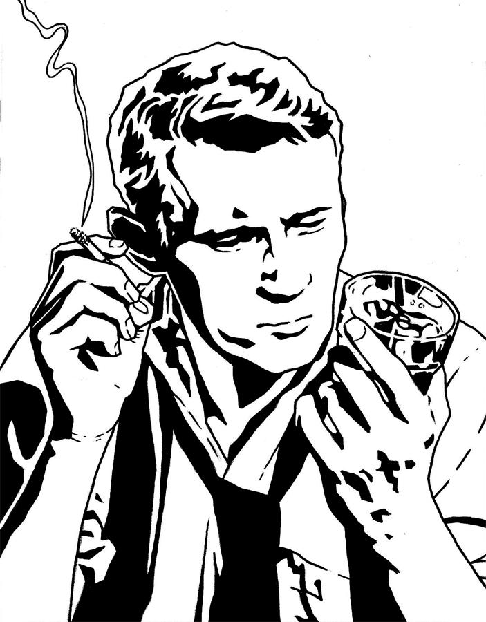 noir detective by mrboomshot