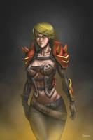 Dragon Hunter Morrighan by Deslaias