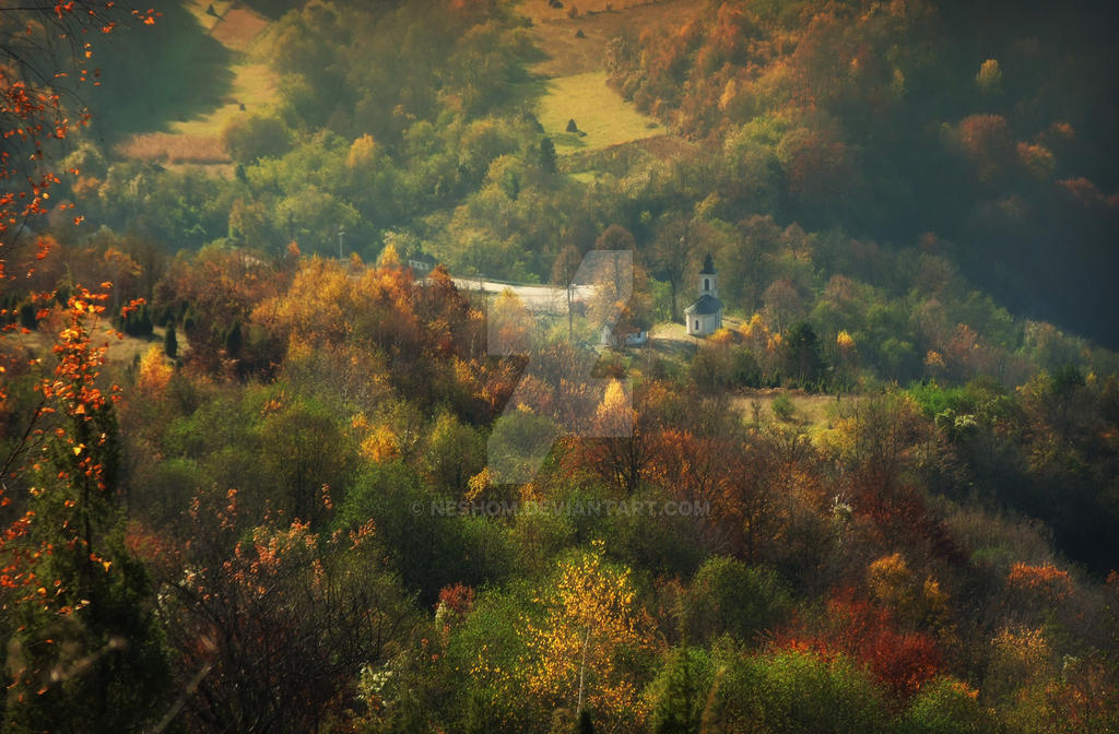 Autumn Church by Neshom