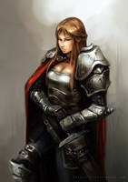 Female Knight by aditya777