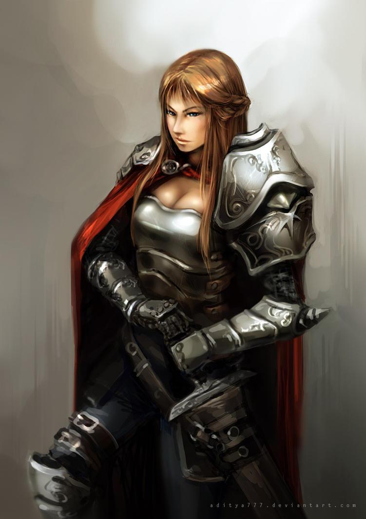 Female Knight by aditya777