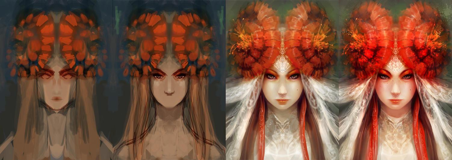 Flower - steps by aditya777