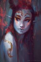Fire Goddess by aditya777