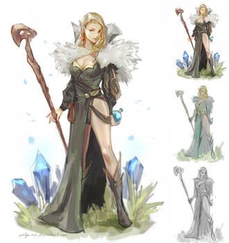 Female elf wizard