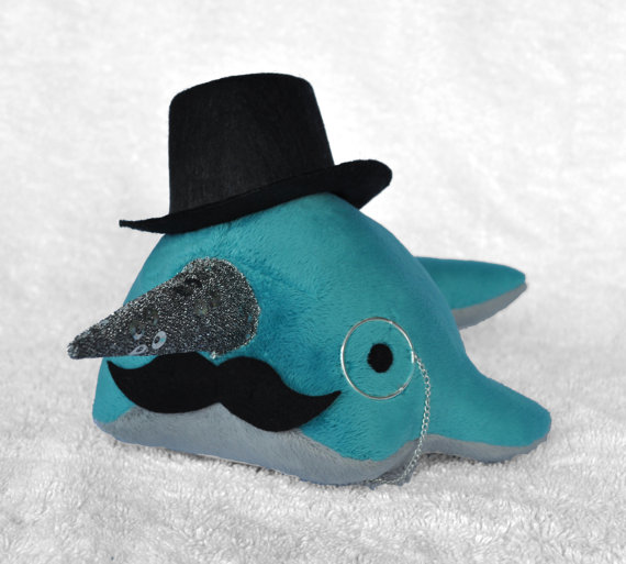 Dandy narwhal...now with top hat by TheOstrichFarm
