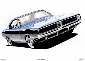 1969 dodge charger by sketch52000