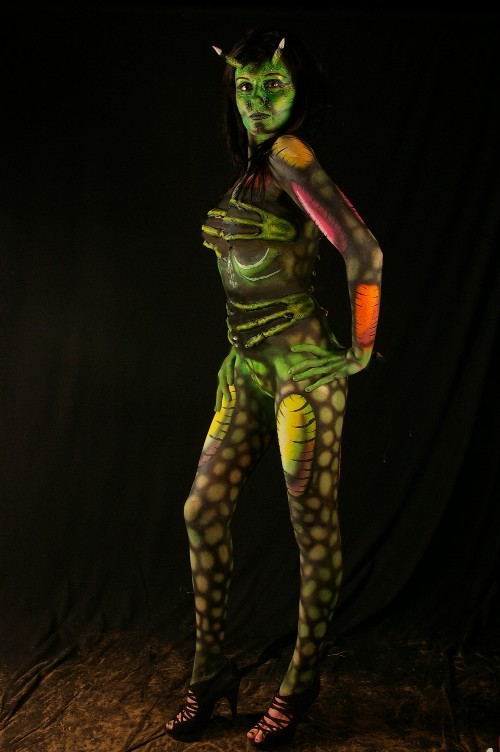 Demon Full Body Painting