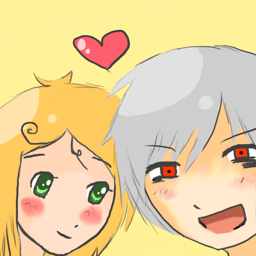 Prussia and annika by jackiekawaii