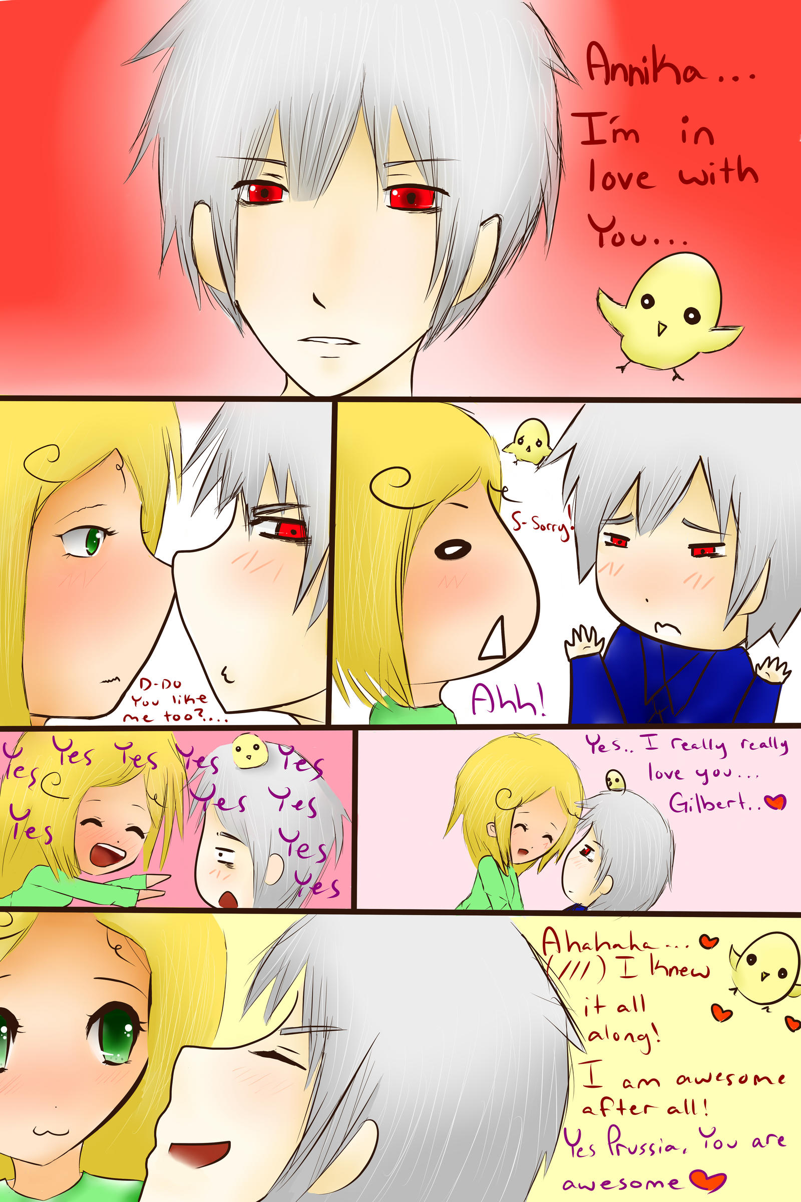 ~Prussia x Annika comic~ by jackiekawaii