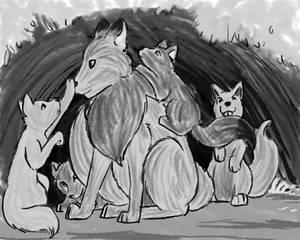 Wolf cubs sketch