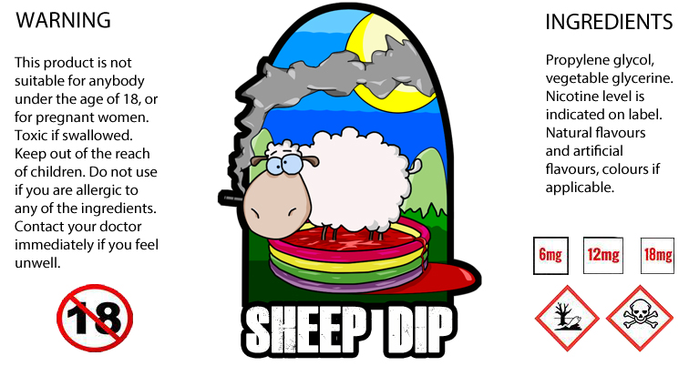 E-Juice Bottle Label - Sheep Dip by MikeBateson on DeviantArt