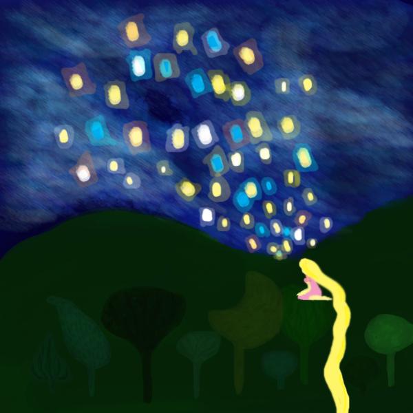 Rapunzel Mural Photoshop By Midnightghostshowl On Deviantart