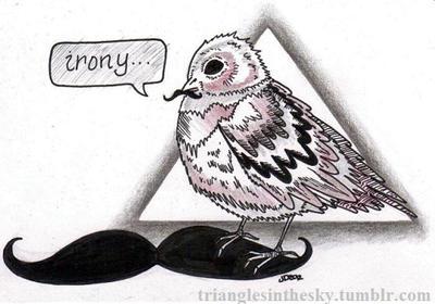 Irony Bird by trianglesinthesky