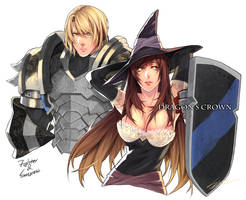 drawing : Dragon's Crown by kugelcruor