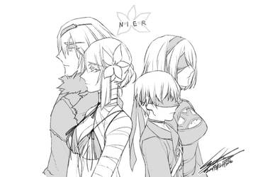 scribble : NieR by kugelcruor