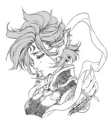drawing: Suzaku by kugelcruor