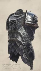 Material Study - Metal armor II by SebastianBecker