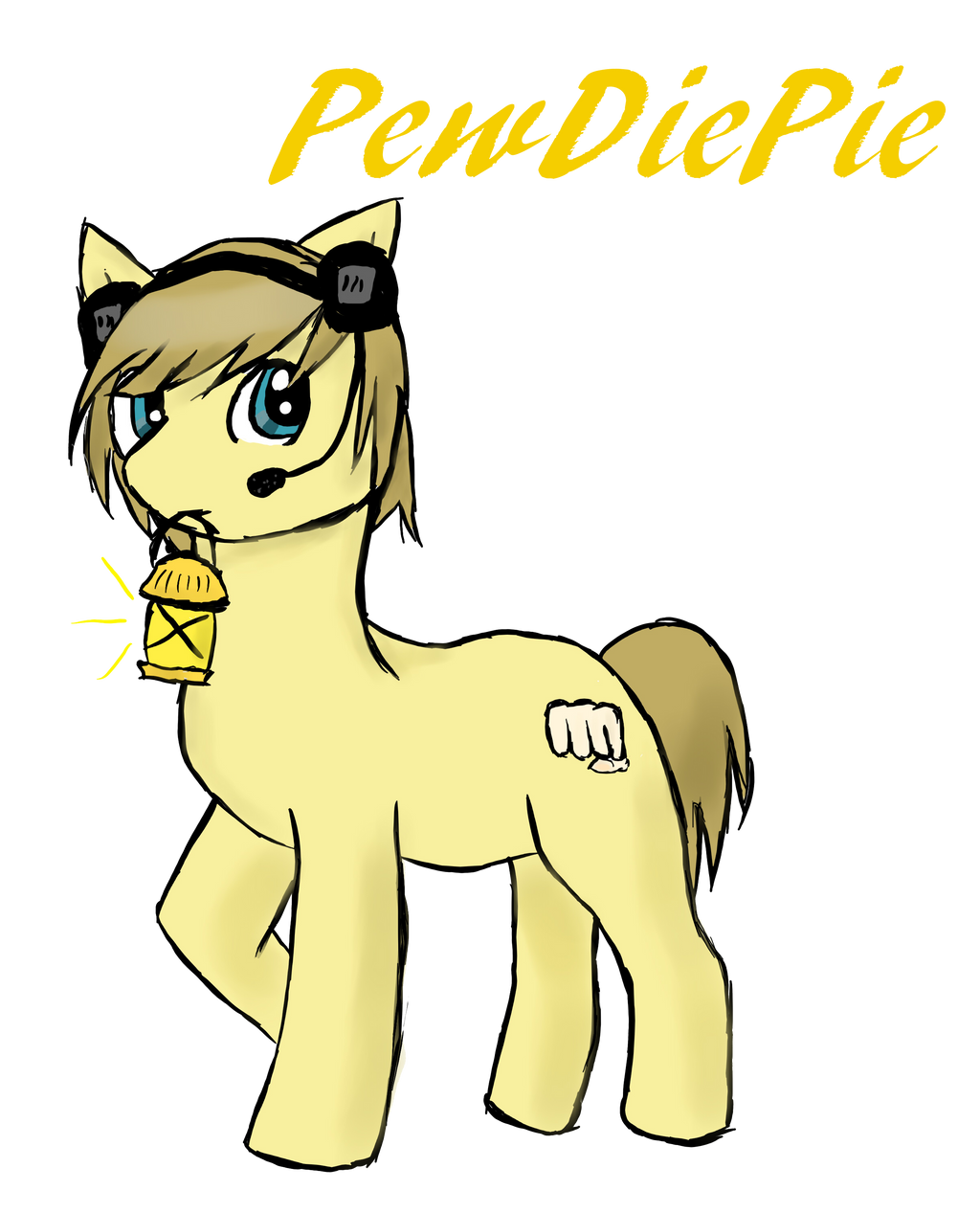 PewDiePie [ Version Pony] by FanPegasister