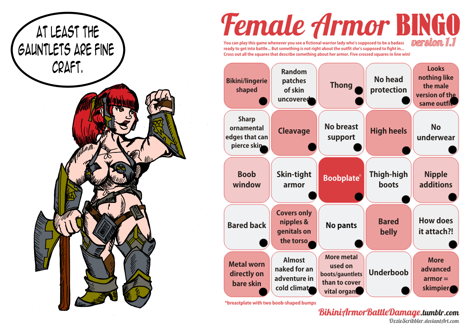 Confirm. was Fantasy female armor meme