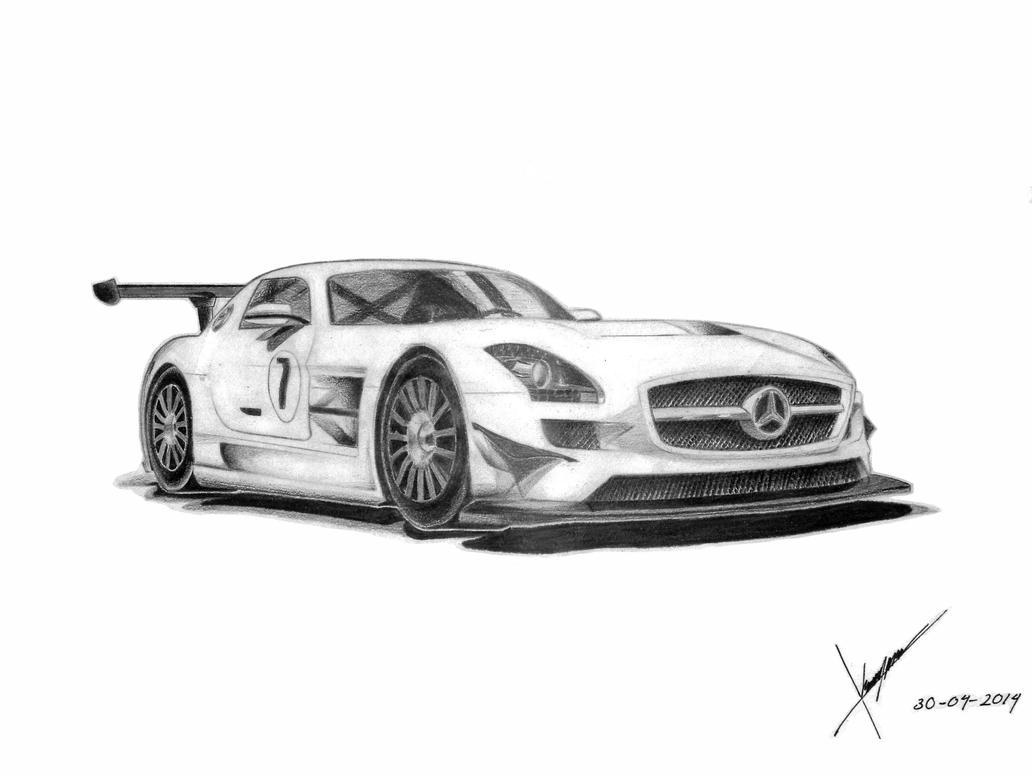 Mercedes Benz Sls Amg Gt3 By A B O R Y N N On Deviantart