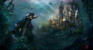 Underwater temple Poseidon