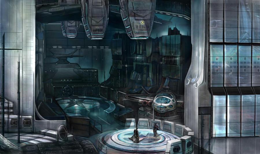 Alien Hanger Bay by GutsBerserk