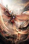 Evil Angel Attack by Joseph-C-Knight