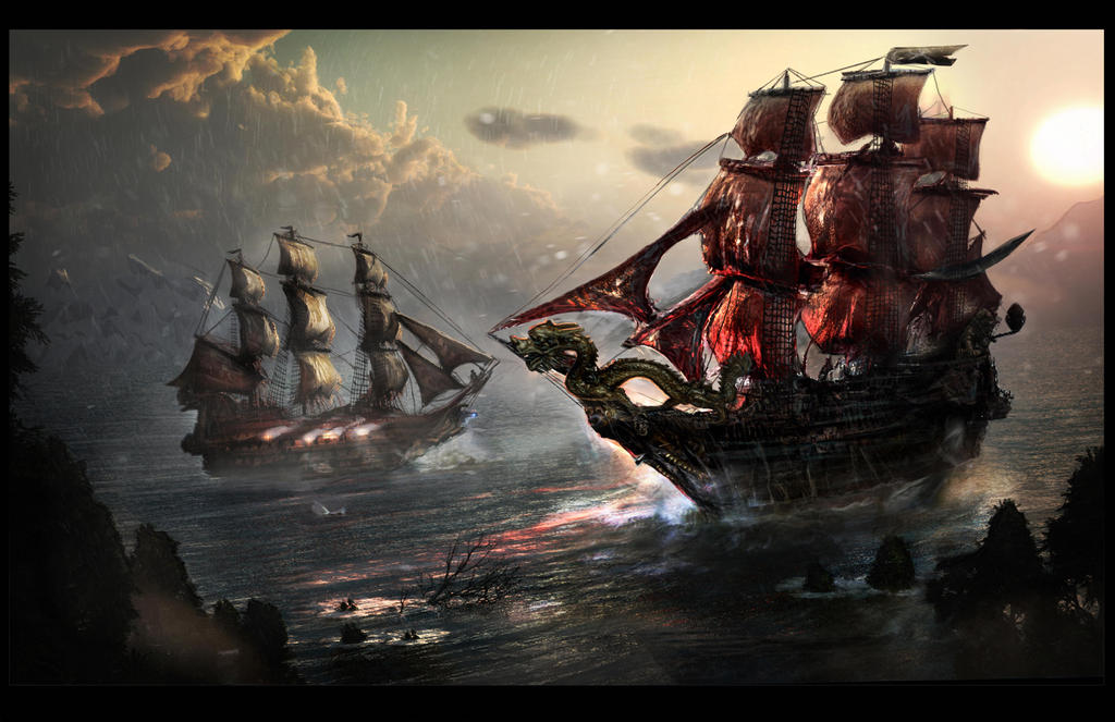 Ship Battle by GutsBerserk