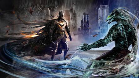 Batman VS Killer Croc by Joseph-C-Knight