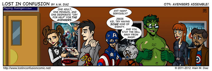 Lost in Confusion #79: Avengers Assemble! by AMDiazArt
