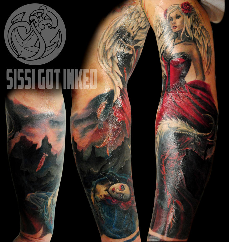 Tattoo Woman Demonic: Demon Sleeve By RosaroterPanda On DeviantArt