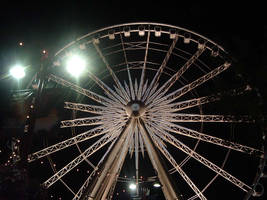 Ferris Wheel At Night by AllyCatastrophe
